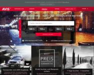 Webseite von AVIS zum AVIS Gutschein einlösen