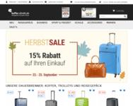 Webseite von Koffer Direkt zum Koffer Direkt Gutschein einlösen