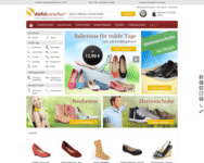 Webseite von Stiefelparadies zum Stiefelparadies Gutschein einlösen
