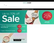 Webseite von Watchshop zum Watchshop Gutschein einlösen