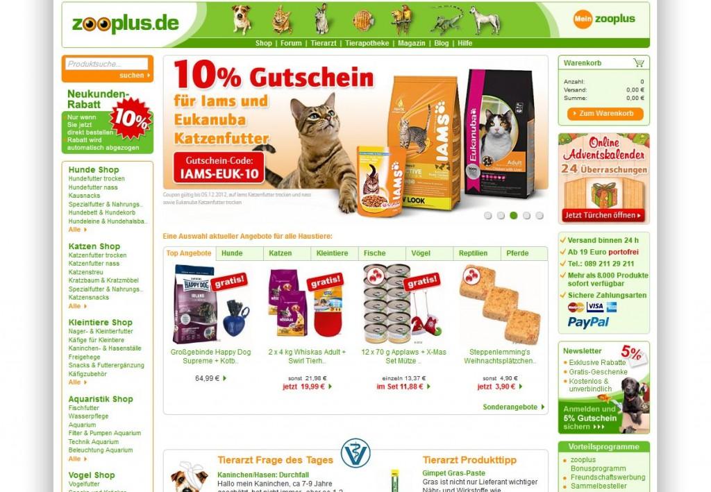 Zooplus Gutschein Bestandskunden 2021