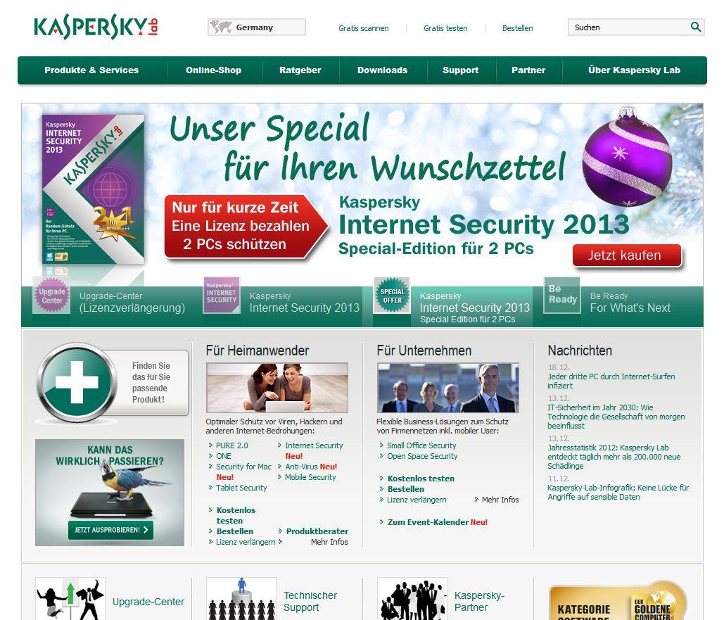Das Kaspersky Portal bietet für Heimanwender und Unternehmen ideale Sicherheitslösungen an
