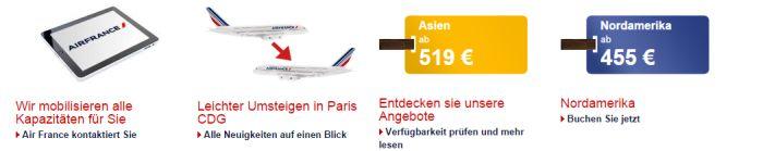 Air France Angebot