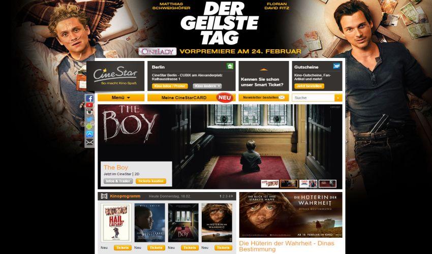 Kinoprogramm Cinestar Wismar