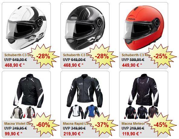Tolle Helme und Motorradbekleidung bei FC Moto