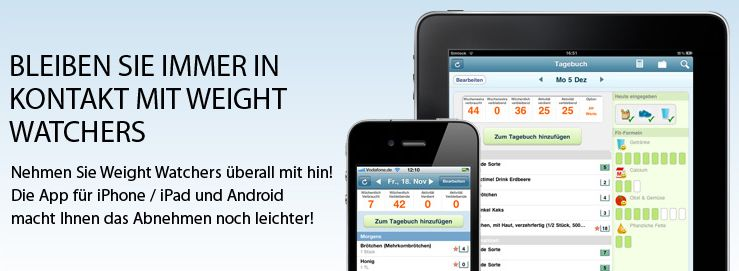 Die App von Weight Watchers